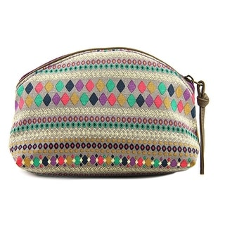 T-Shirt & Jeans Domed Cosmetic Bag Women Canvas Multi Color Cosmetic Bag - Multi-Color