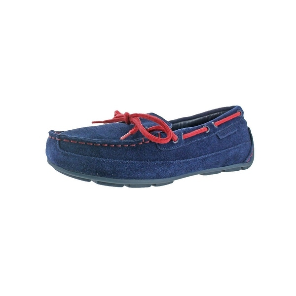 6c77704fbf6 Shop Cole Haan Boys Grant Driver Driving Moccasins Loafer Boat Shoes ...
