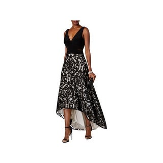 Xscape Womens Evening Dress Floral Print High-Low