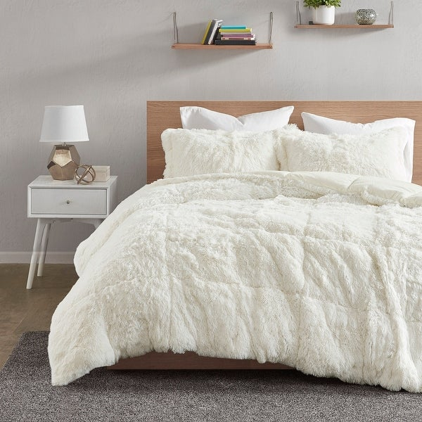Intelligent Design Leena Shaggy Faux Fur Comforter Set. Opens flyout.
