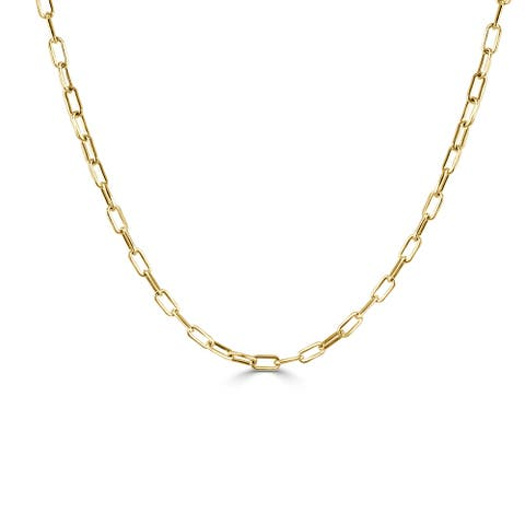 """Gold Rectangle Link Chain Necklace 14k Gold Made in Italy 18"""" approx 7.9 grams"""