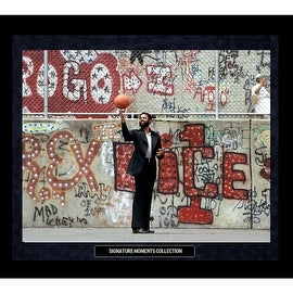 Walt Frazier Graffiti On Playground Framed Golden Moments 16x20 Photo