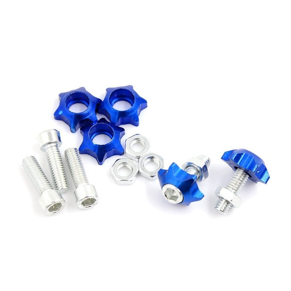 5 Pcs Star Shaped License Plate Bolts Screws Decor Black 6mm Dia for Motorcycle