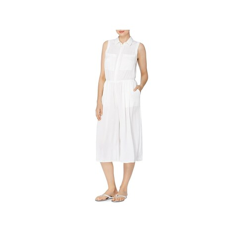 CATHERINE CATHERINE MALANDRINO Womens Bethea Jumpsuit Pleated Wide Leg
