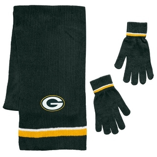 Link to Green Bay Packers Scarf and Glove Gift Set Chenille Similar Items in Fan Shop