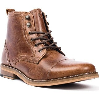 Crevo Men's Bookham Cap Toe Boot Chestnut Leather