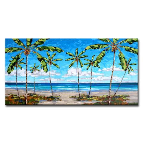 Porch & Den Coastal Palms' Scenic Canvas Wall Decor