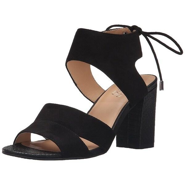 Franco Sarto Womens Gem Leather Open Toe Casual Slide Sandals