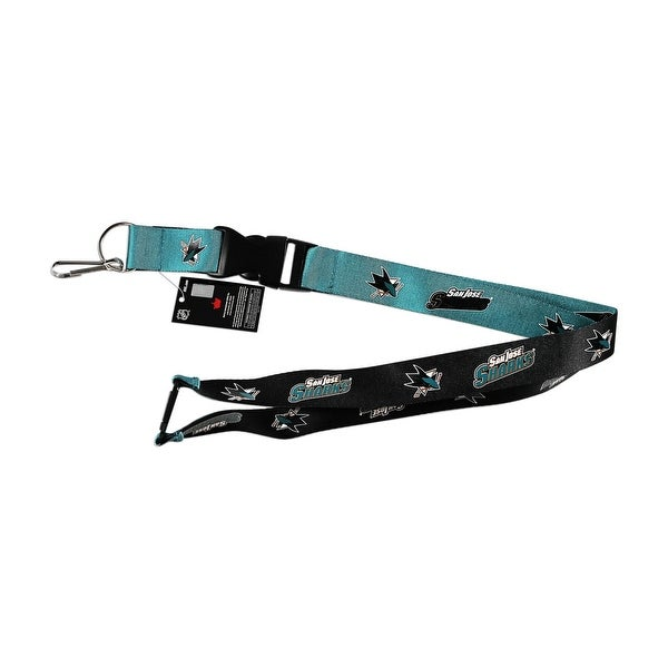 NHL San Jose Sharks Reversible Lanyard Keychain ID Holder