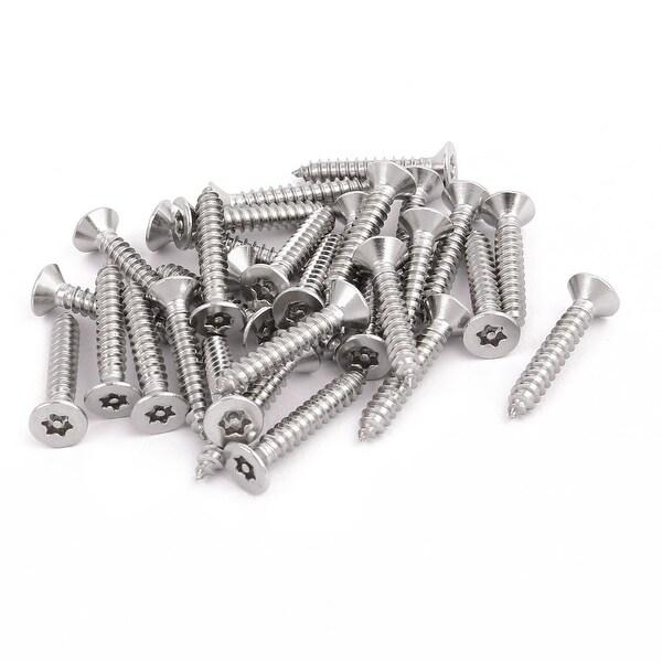 M4 2x25mm 304 Stainless Steel Flat Head Torx Self Tapping Screw Fastener  30pcs