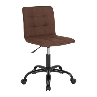 Offex Home and Office Contemporary Adjustable Task Chair in Brown Fabric