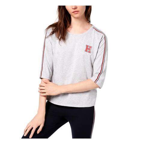 Tommy Hilfiger Womens T-Shirt Heathered Logo