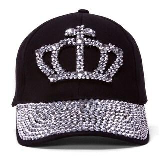 Womens Jeweled Baseball Cap
