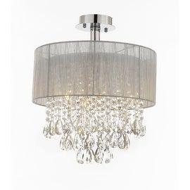 "Silver and Crystal 15""W Ceiling Light Chandelier Pendant Flush Mount|https://ak1.ostkcdn.com/images/products/is/images/direct/5ebd7322d9835198548a17b4a2d0e5a45d57d15a/Silver-and-Crystal-15%22W-Ceiling-Light-Chandelier-Pendant-Flush-Mount.jpg?_ostk_perf_=percv&impolicy=medium"