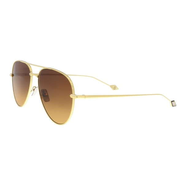 bf253c887c970 Shop BRIONI BR0025S 002 Gold Aviator Sunglasses - Free Shipping ...