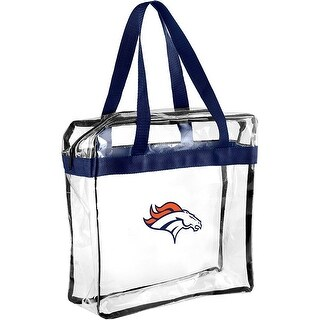 Forever Collectibles Licensed NFL Clear Tote Bags for Denver Broncos