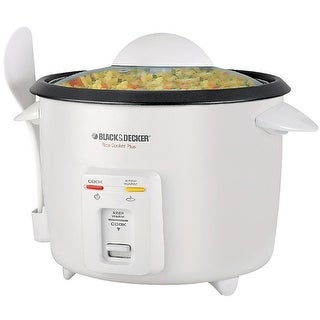 Black & Decker RC516 16-Cup Rice Cooker, White