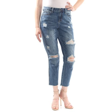 AMERICAN RAG Womens Blue Frayed Jeans Juniors Size: 9