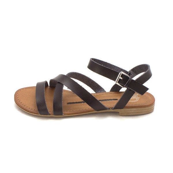 New Directions Womens Sondra Open Toe Casual Strappy Sandals