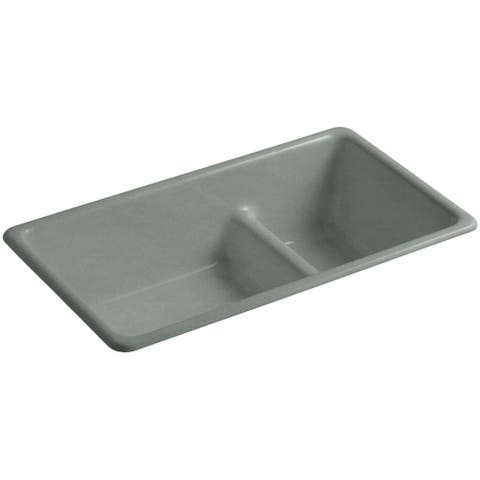 Kohler K 6625 Iron Tones 33 Double Basin Top Mount Under