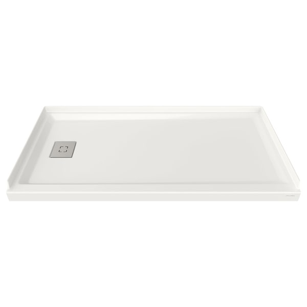 "American Standard A8002L-LHO Studio 32"" L x 60"" W Shower Base with Single Threshold and Left Drain - White"