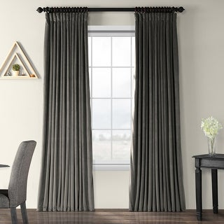 Exclusive Fabrics Signature Extrawide Blackout Velvet Curtain Panel