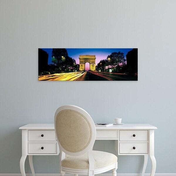 Easy Art Prints Panoramic Images's 'France, Paris, Arc de Triomphe' Premium Canvas Art