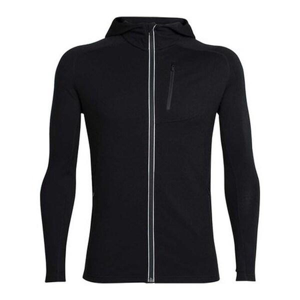269603ca Shop Icebreaker Men's Quantum Long Sleeve Zip Hoodie Black - Free Shipping  Today - Overstock - 19113965