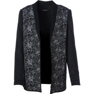 Elie Tahari Womens Wool Open Front Casual Blazer - S