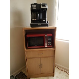 Shop Microwave 2 Door Wood Cart Stand Free Shipping