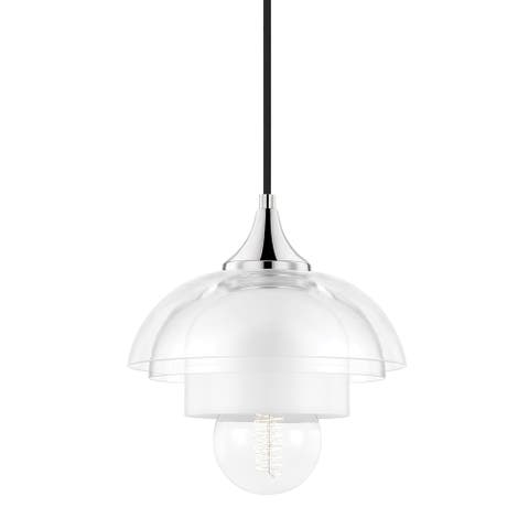 Mitzi by Hudson Valley Ruby 1-Light Pendant with Clear and Opal Glass