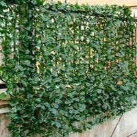Costway 59''x118'' Faux Ivy Leaf Decorative Privacy Fence Screen Artificial Hedge Fencing - Green