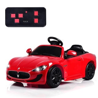 Gymax 12V Maserati Grancabrio Licensed Electric Kids Ride On Car RC w/ Lights & Music