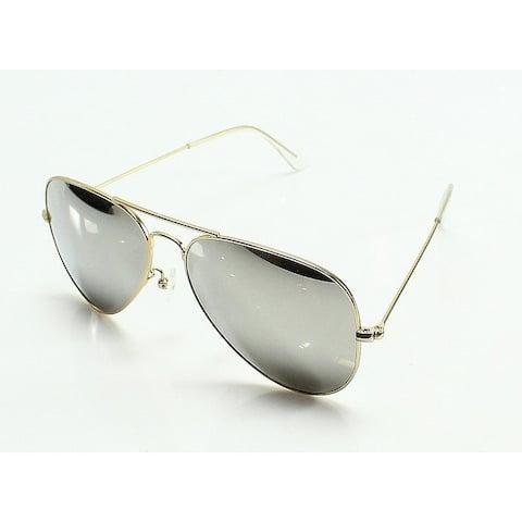 Aquaswiss Gold Framed Mirror Black Gradient Pilot Sunglasses