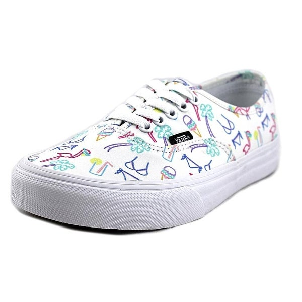 643fd36eeb Vans Womens Authentic Sneakers (Neon Lights) Tropical True White Womens
