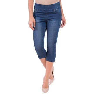 Lola Jeans Erica-MB, High Rise Pull On Capri With 4-Way Stretch