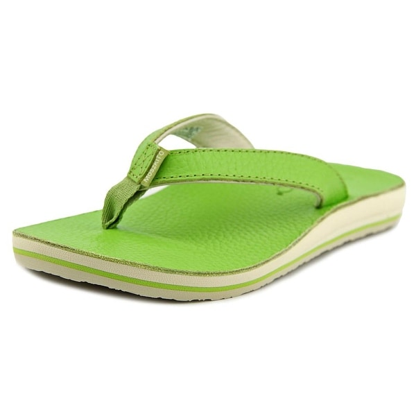 44131abf44836 Shop Moszkito Wing Women Open Toe Leather Green Flip Flop Sandal ...