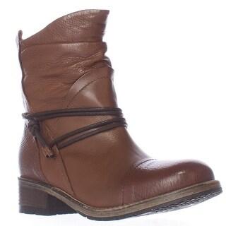 Clarks Volara Dina Ankle Tie Slouch Boots - Dark Brown