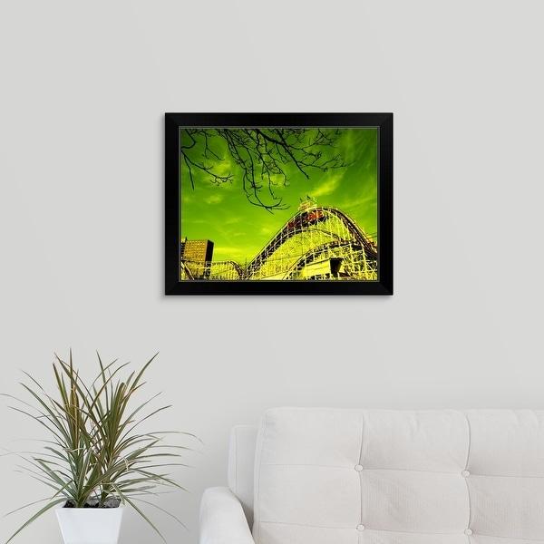 """Astroland, Coney Island, Brooklyn, New York City, New York State"" Black Framed Print"