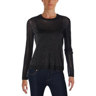 Marc by Marc Jacobs Womens Laurie Pullover Sweater Sheer Metallic