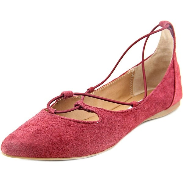 Steve Madden Bungiee Pointed Toe Suede Flats