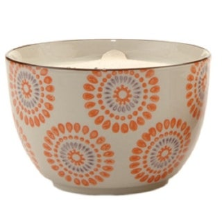 Paddywax Blood Orange and Bergamot Soy Wax Scented Candle in Hand Painted Bowl 12.5 oz