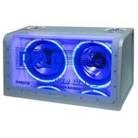 Pyle Dual 12'' 1200 Watt Bandpass System w/Neon Woofer Silhouette