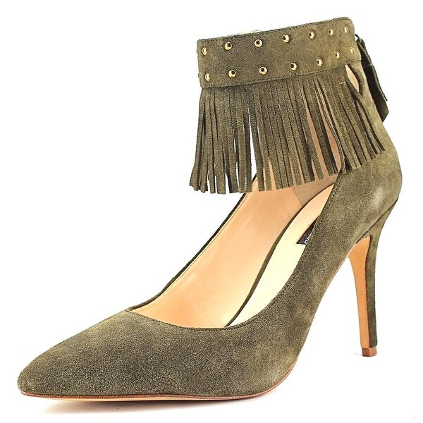 INC International Concepts Britanii Women  Pointed Toe Suede Green Heels