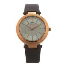 Dkny Ny2296 Stanhope Gray Leather Strap Watch Watch For Women