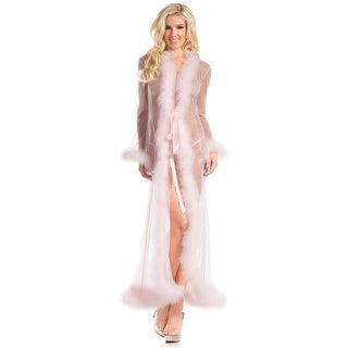 BW1650CP Marabou Robe Candy Pink - Color - Candy Pink - Size - One Size