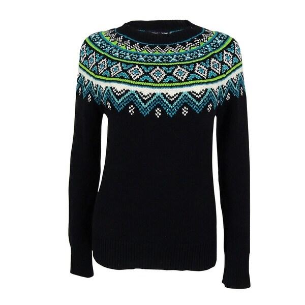 American Living Women's Fair-Isle Crewneck Sweater - Free Shipping ...