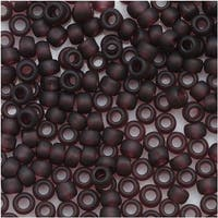 Toho Round Seed Beads 8/0 6CF 'Transparent Frosted Amethyst' 8 Gram Tube
