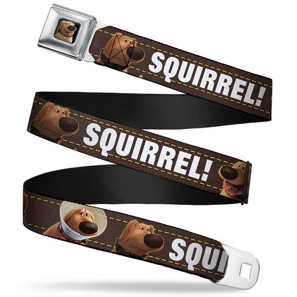 Dug Tongue Out Pose Full Color Black Dug 3 Poses Squirrel! Brown Yellow Seatbelt Belt