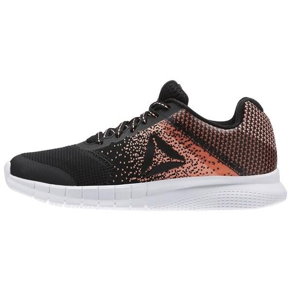 Reebok Womens instalite run Low Top Lace Up Skateboarding Shoes, Black, Size 8.5